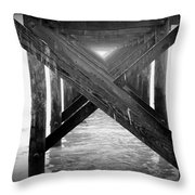 Penthouse Pier Throw Pillow