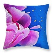 Peony Dust Throw Pillow
