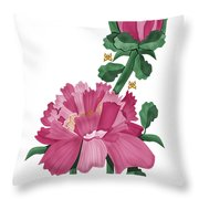 Peony In Pink Throw Pillow by Anne Norskog