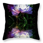 Peony Reflected Throw Pillow