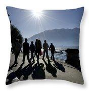 People Walking Throw Pillow