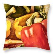 Peppered 4 Throw Pillow