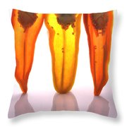 Peppers In Half Throw Pillow