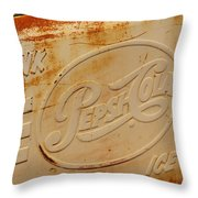 Pepsi Cola Remembered Throw Pillow
