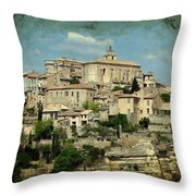 Perched Village Of Gordes Throw Pillow
