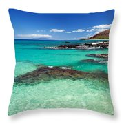 Perfect Day At Makena Throw Pillow