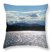 Perfect Day On The Lake Throw Pillow