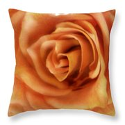 Perfection In Peach Throw Pillow