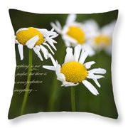 Perfection In The World Throw Pillow
