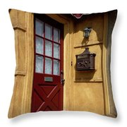Perfectly Paletted Doorway Throw Pillow