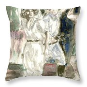 Perils Of Pauline Throw Pillow