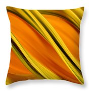 Peripheral Streak Image Of Squash Throw Pillow