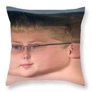 Peripheral Streak Image Throw Pillow
