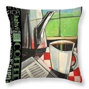 Perk Coffee Languages Poster Throw Pillow