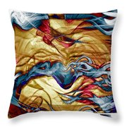 Permanent Waves Throw Pillow
