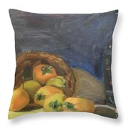 Persimos Y Vino Throw Pillow by Lilibeth Andre