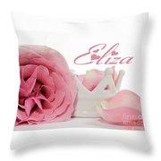 Personalized Princess Petals Throw Pillow