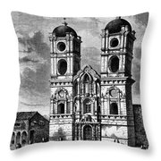 Peru: Jesuit Church, 1869 Throw Pillow