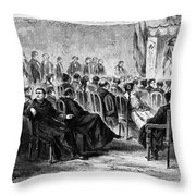 Peru: Theater, 1869 Throw Pillow