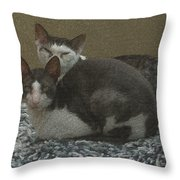 Peso And Pancho Portrait Throw Pillow