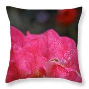 Petal Bling Throw Pillow