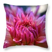 Petal Motion Throw Pillow