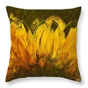 Petales De Soleil - A43t02b Throw Pillow by Variance Collections