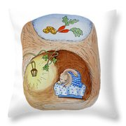 Peter Rabbit And His Dream Throw Pillow