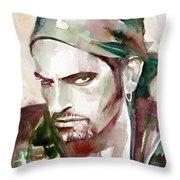 Peter Steele Portrait.6 Throw Pillow