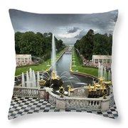 Peterhof Palace 16x9 Throw Pillow