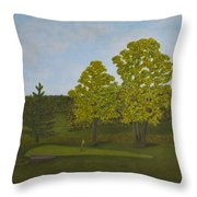 Peter's Hole In One Throw Pillow