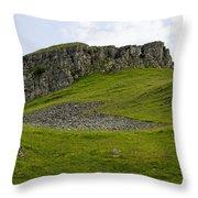Peter's Stone - Derbyshire Throw Pillow