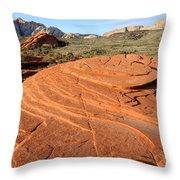 Petrified Sand Dunes - Snow Canyon Utah  Throw Pillow