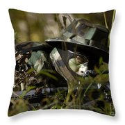 Petty Officer Provides Security Throw Pillow