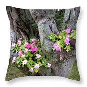 Petunia Tree Throw Pillow