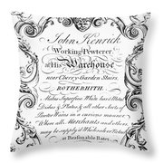 Pewterware, 18th Century Throw Pillow