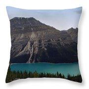 Peyto Lake - Canadian Rocky Mountains Throw Pillow