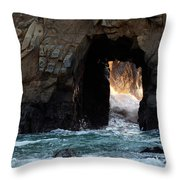 Pfeiffer Rock Big Sur Throw Pillow by Bob Christopher