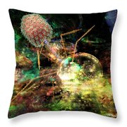 Phage Dreaming 1 Throw Pillow