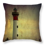 Phare De Ouistreham Or Ouistreham Lighthouse    Caen Throw Pillow