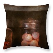 Pharmacy - Kidney Pills And Suppositories Throw Pillow by Mike Savad