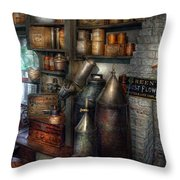 Pharmacy - Tools - August Flowers Throw Pillow