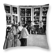 Pharmacy C. 1900 Throw Pillow