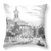 Philadelphia, 1854 Throw Pillow