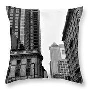 Philadelphia 18th And Walnut Street. Throw Pillow