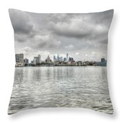 Philadelphia Across The Water Throw Pillow
