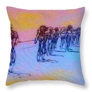 Philadelphia Bike Race Throw Pillow