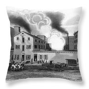 Philadelphia: Distillery Throw Pillow