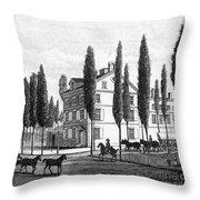 Philadelphia: House, C1800 Throw Pillow