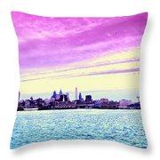 Philadelphia Morning View Throw Pillow